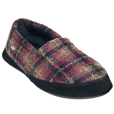 Acorn Slippers Men's Plaid A10086 CPD Fleece Lined Tex Moc Slippers