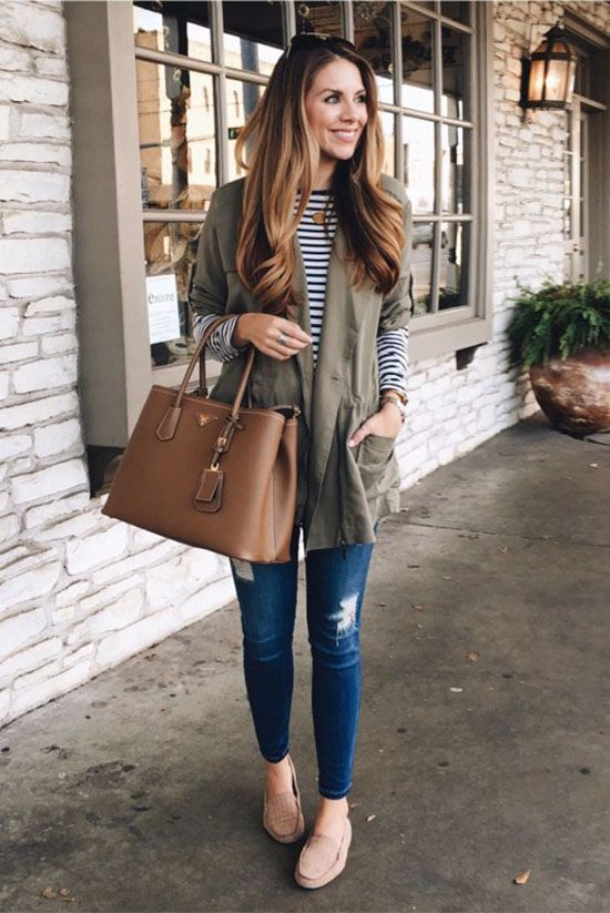 See the week's most inspiring fall / winter outfit ideas, from cute denim  on denim layers to military color ensembles.