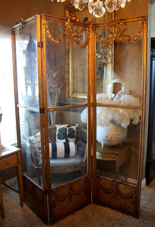 Unbelievable French Boudoir Barbola Screen 1900s-Dressing Screen, Water Gilt, Antique, French, Barbola, Paris Shopping, Chandeliers, European Antiques, France Antiques, Vintage, Paris Shopping, Paris Boudoir,