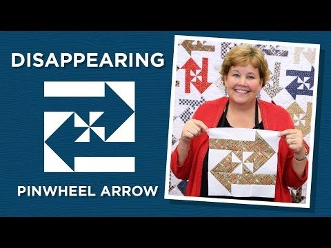 Make a Disappearing Pinwheel Arrows Quilt with Jenny                                                                                                                                                                                 More