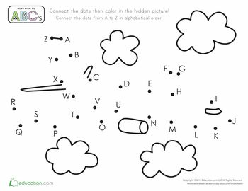 Worksheets: Airplane Dot-to-Dot