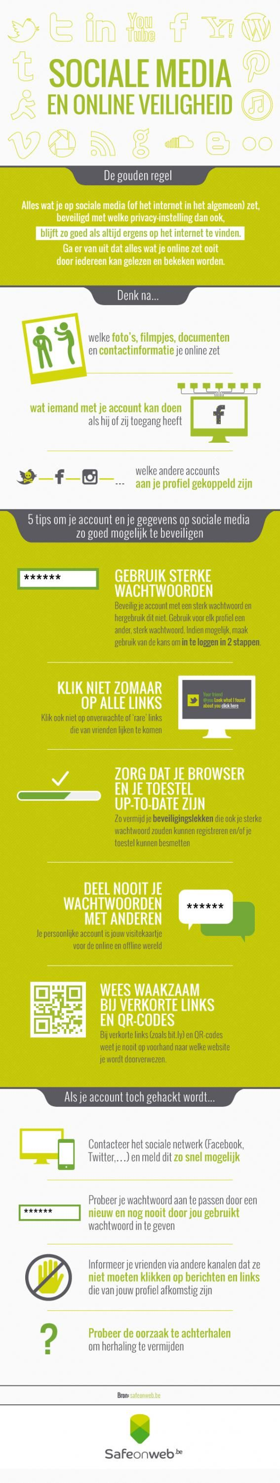 Infographic sociale media en online veiligheid