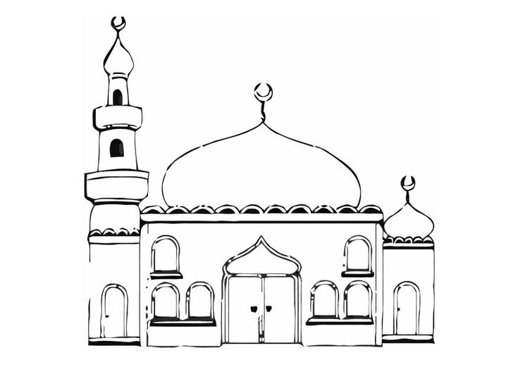 mosque colouring page