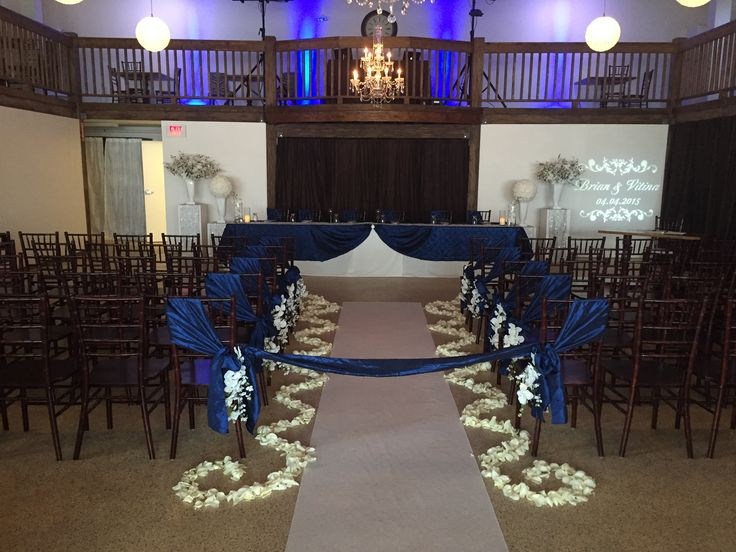 Ceremony setup in front of head table
