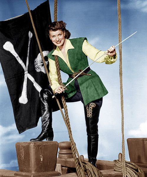 Against All Flags, Maureen Ohara, 1952 Poster By Everett: