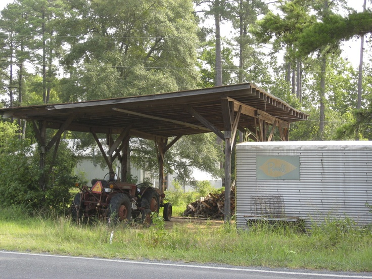 Open air tractor shed barns of north carolina for Tractor garage plans