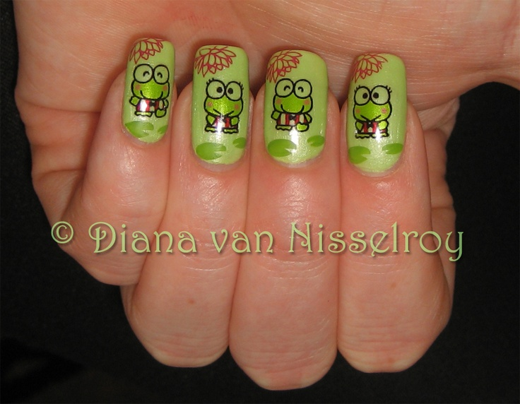 137 best frog nails images on pinterest nail nail enamels and keroppi nails on opi bikini envy my niece amber would get a kick out of these frogs robin prinsesfo Choice Image