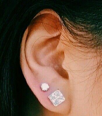 Double lobe piercing                                                                                                                                                      More