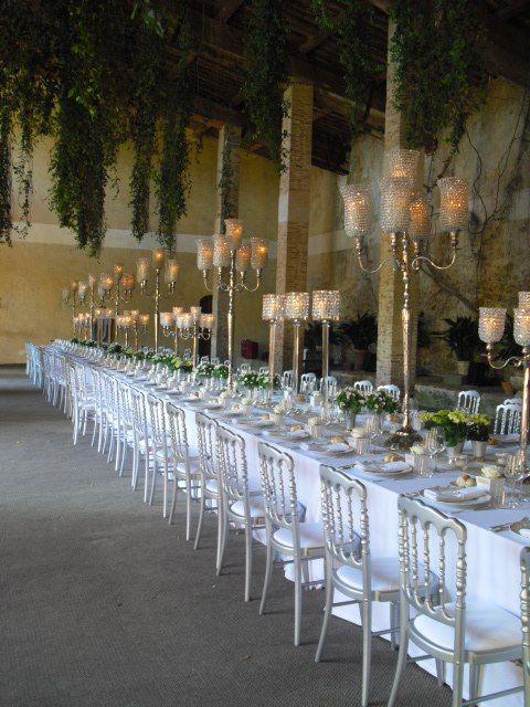 Wedding Table in the Limonaia at Villa Grabau