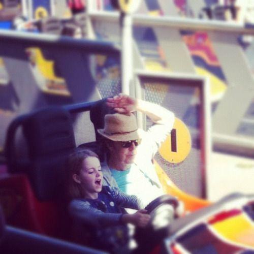 Paul and daughter Beatrice McCartney at Disney World, 2012.