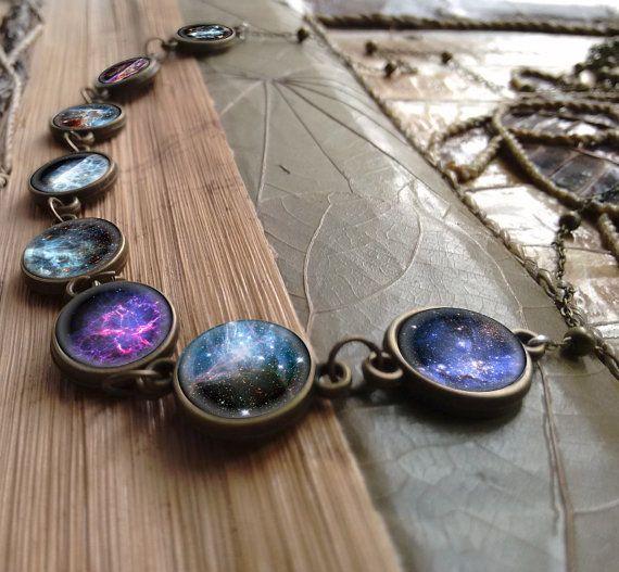 nebula jewelry cosmic pendant interstellar necklace galaxy jewelry Galaxy necklace nebula necklace stars necklace galaxy necklace