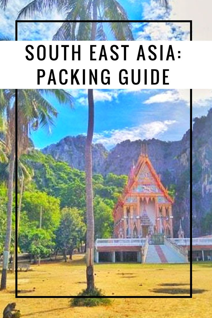 Packing Guide Help Advice Tips. Everything you need to pack. Don't forget to pack! #bags #clothes #what to wear #suitcase #backpack #pack for asia #thailand #cambodia #malaysia #indonesia #philippines #laos #vietnam #essentials #practical #list #useful #packing list #summer #tropics
