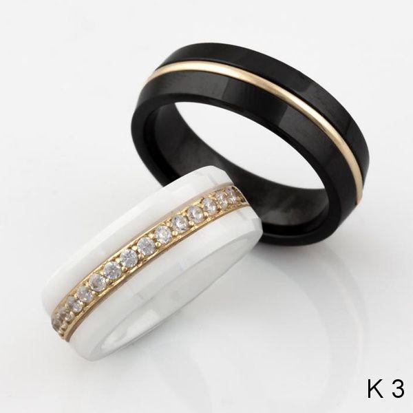 Snubní prsteny keramika