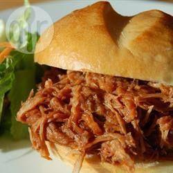 Foto da receita: Carne de porco desfiada