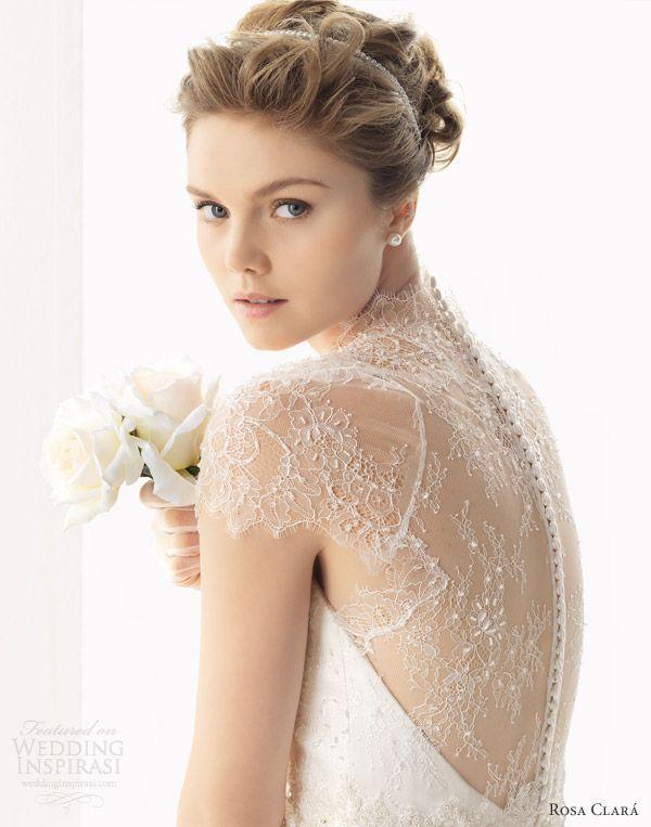 esse vestido é puro romance! O detalhe das costas se estende até afrente em total harmonia. inspire-se!