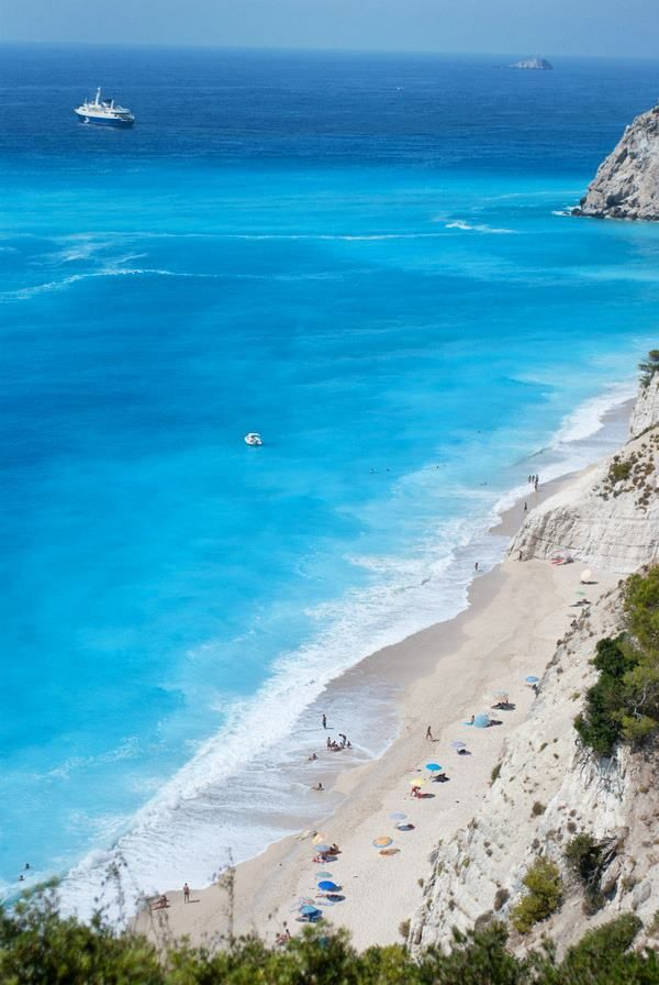 The amazing turquoise waters of Lefkada island, Greece...take me there!!