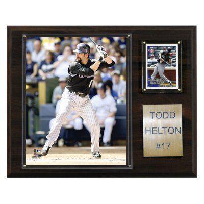 MLB 12 x 15 in. Todd Helton Colorado Rockies Player Plaque - 1215HELTON