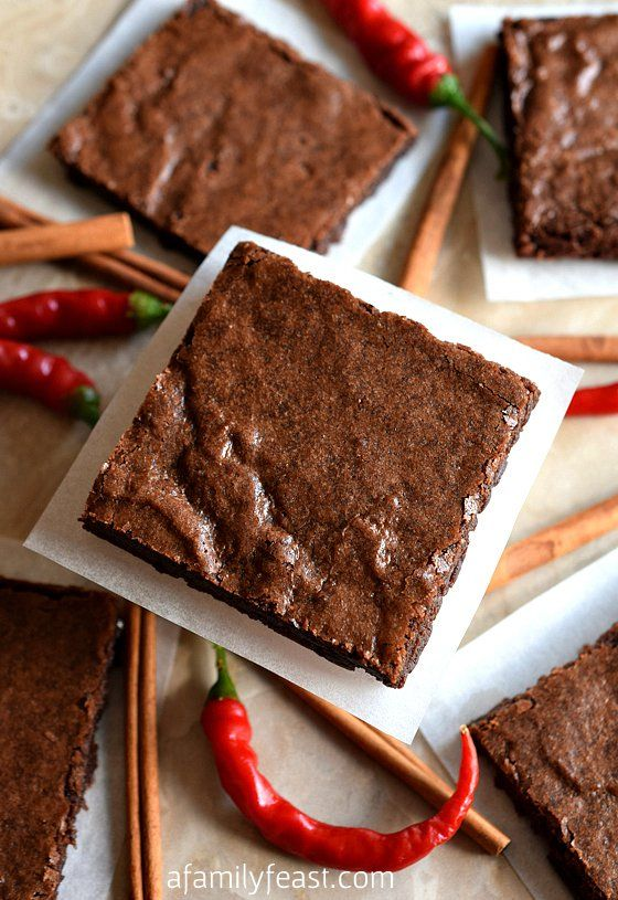 Mexican Brownies - A dense, fudgy brownie recipe with cinnamon and cayenne added for a little spiciness and heat. The flavors in these brownies is fantastic!