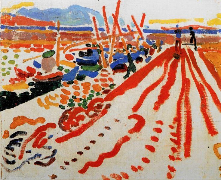 Andre Derain 1906, La jetée à L'Estaque, oil on canvas,                                                                                                                                                     More