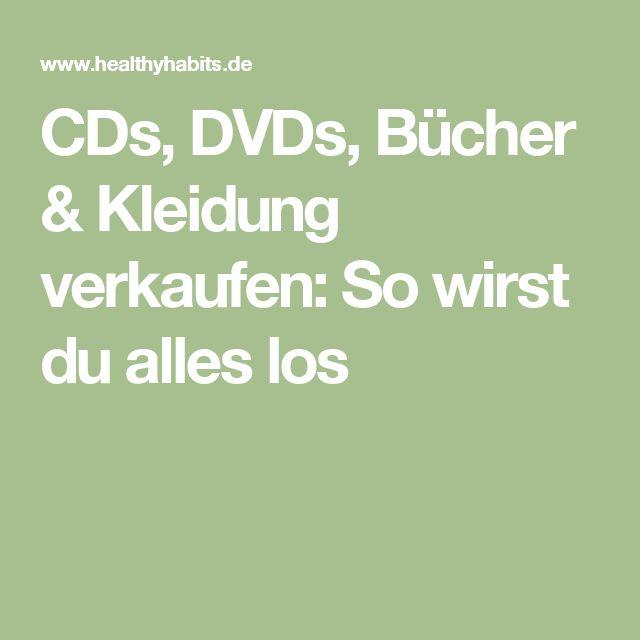 CDs, DVDs, Bücher & Kleidung verkaufen: So wirst du alles los
