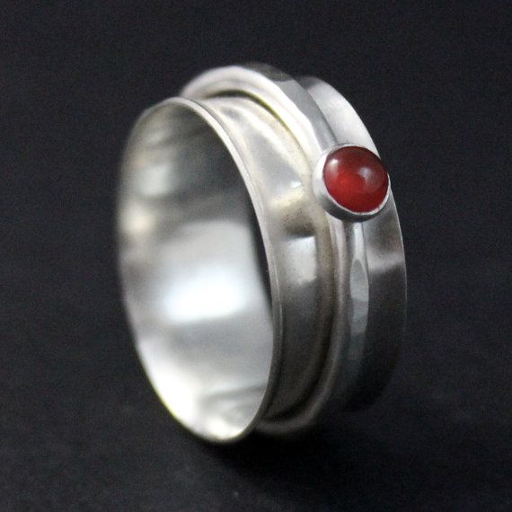 Sterling Silver Rings Silver Spinner Ring by RebeccaCordingley