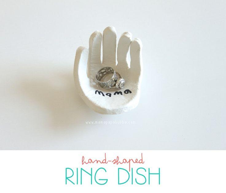 Hand-Shaped Ring Dish - Mama.Papa.Bubba.