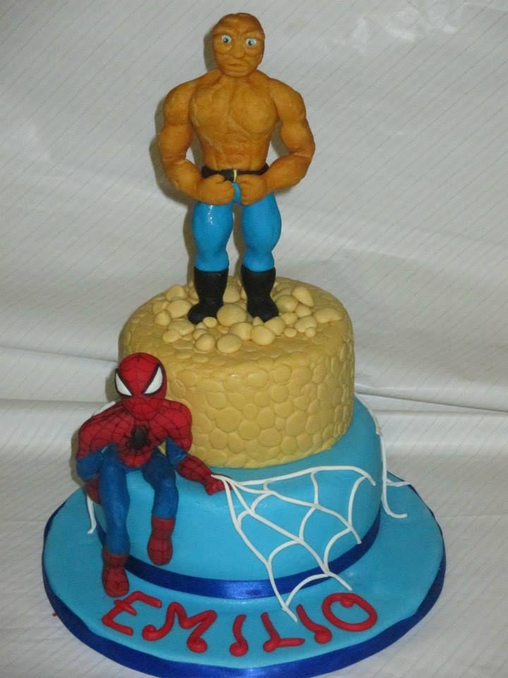 Torta Uomo Roccia e Spiderman