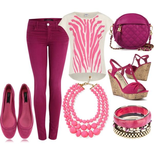 """""""Fuchsia outfit"""" by esperanzandrea on Polyvore"""