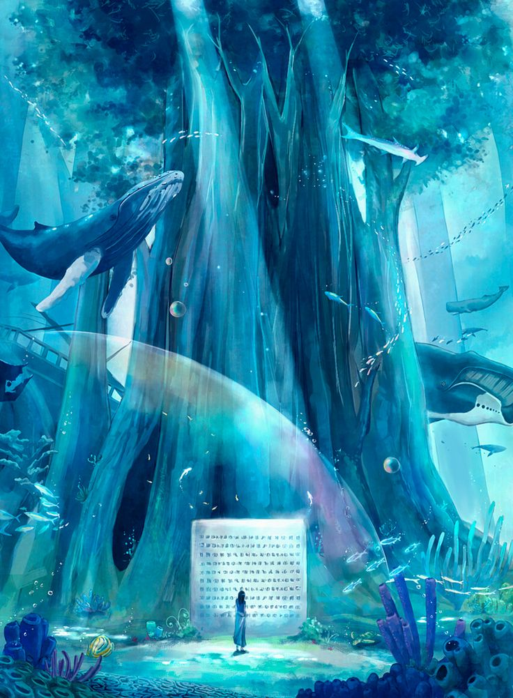 Whales in the undersea forest