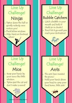 Line Up Survival Kit - need some new ideas to get your kids lining up quietly?