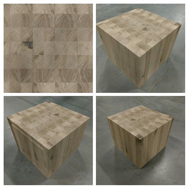 Butcherblock/sidetable/nightstand/stool/socle/footstool or just a wooden cube... whatever you want it to be #solidoak #custom #woodworks #rubiomonocoat @sandergeveke pm for info