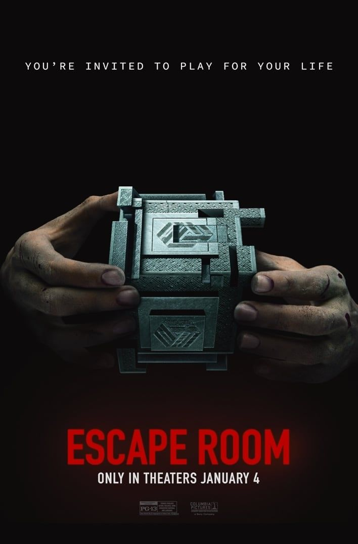 Escape Room – new film poster: teaser-trailer.co…  Release date: January 4, 20…