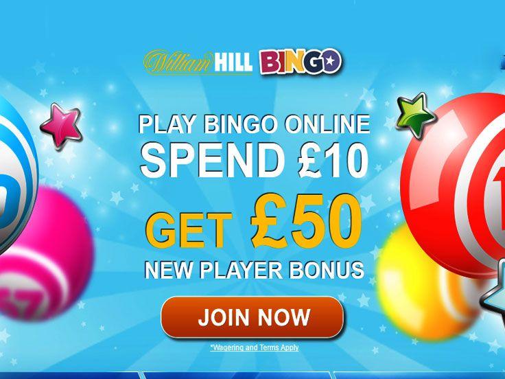 £40 EXTRA BINGO BONUS    400% 1ST DEPOSIT BONUS Open a new account at William Hill Bingo, spend £10 on bingo tickets, and get a £40 bonus automatically!
