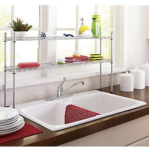 2 Tier Over The Sink Shelf From Ginny S 174 With Images Sink Shelf Over Sink Shelf Shelves
