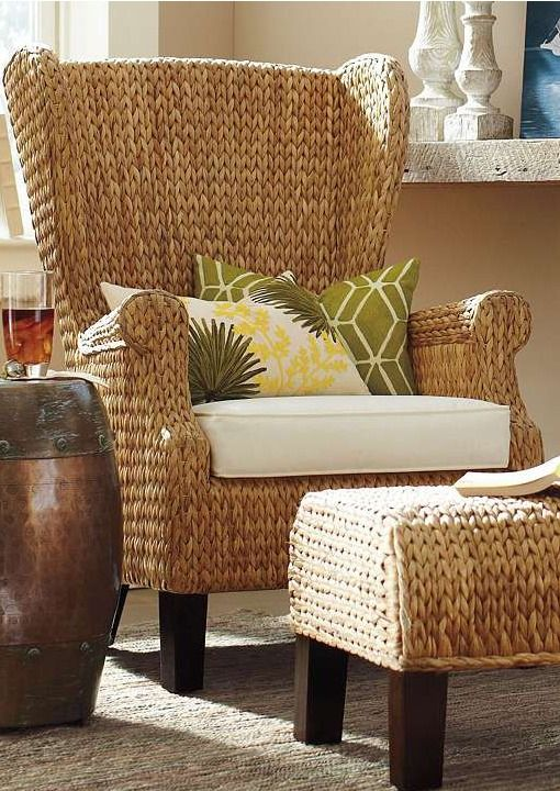 The Santino Wing Chair with Cushion is a casual update to the classic high-back wing chair that will add a welcomed tropical and relaxed ambiance to your home.