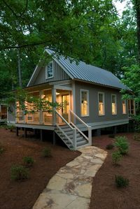 This the 1091 sq. ft. Camp Callaway Cottage. It's built by Pine Mountain Builders and certified by EarthCraft House. Please enjoy, learn more, and re-share below. Thank you! 1091 Sq. Ft. Camp…