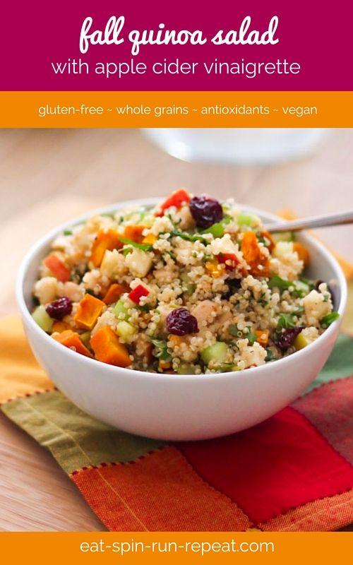 Quinoa salad, Vinaigrette and Beta carotene on Pinterest