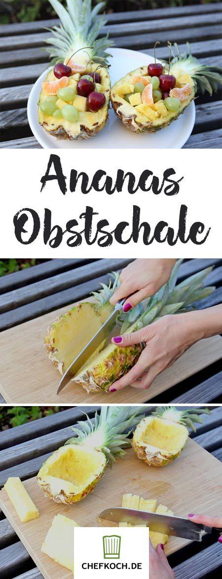 In einer Ananas-Schale angerichtet, wird jeder Obstsalat zum echten Hingucker.