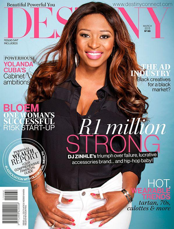 Dj Zinhle, Destiny March 2015 Cover