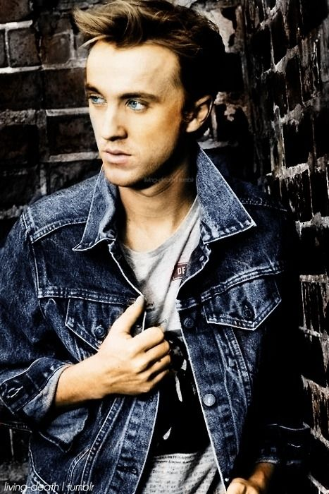 Tom Felton. when the guy whom everyone hated becomes very attractive, and you can't help but like him now, i'm gonna say that he looks 100 times better with dark hair though. (: