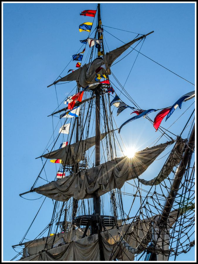 Sunrise on the Tall Ship, Halifax, Nova Scotia, Canada