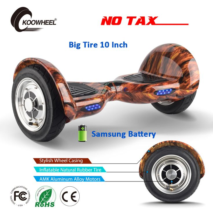 Koowheel Smart Hoverboard 2 Wheel 10 Inch Self Balance Kick Scooters Off-road Electric Scooter Board With Handle Control Rod //Price: $276.96//     #storecharger