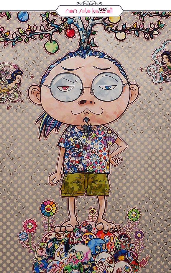 Cosmic Truth, 2014 (Arhat Cycle) by Takashi Murakami at Palazzo Reale, Milano