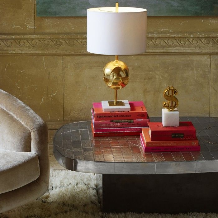 Sculpted, cast in solid brass and polished to perfection, the Dollar Sign Object by Jonathan Adler makes the perfect coffee table accent and is available exclusively at Coco Republic. #CocoRepublic #JonathanAdler #Brass #Accent #Vignette #InteriorStyling