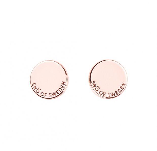 Eileen coin ear plain örhängen av Snö of sweden Rosé 199:-