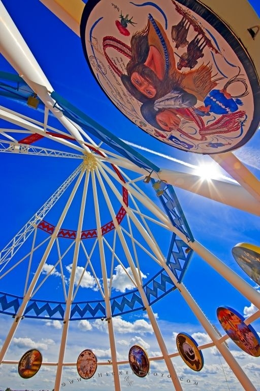 Photo of the First Nations Saamis Teepee, the world's largest teepee, Medicine Hat Alberta Cana