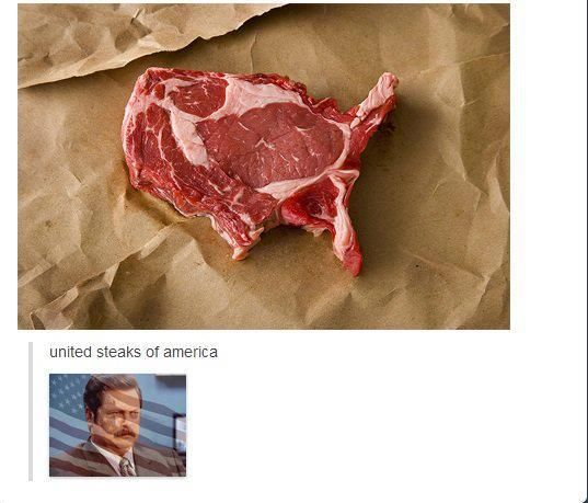 'MURICA. And bc I did my English paper on Ron Swanson