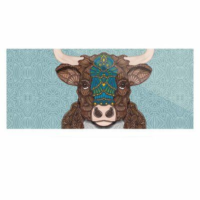 "East Urban Home 'Bennie - The Bull' Graphic Art Print on Metal Size: 16"" H x 20"" W x 1"" D"