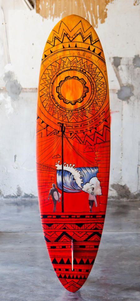 www.wavescape.com art surf board