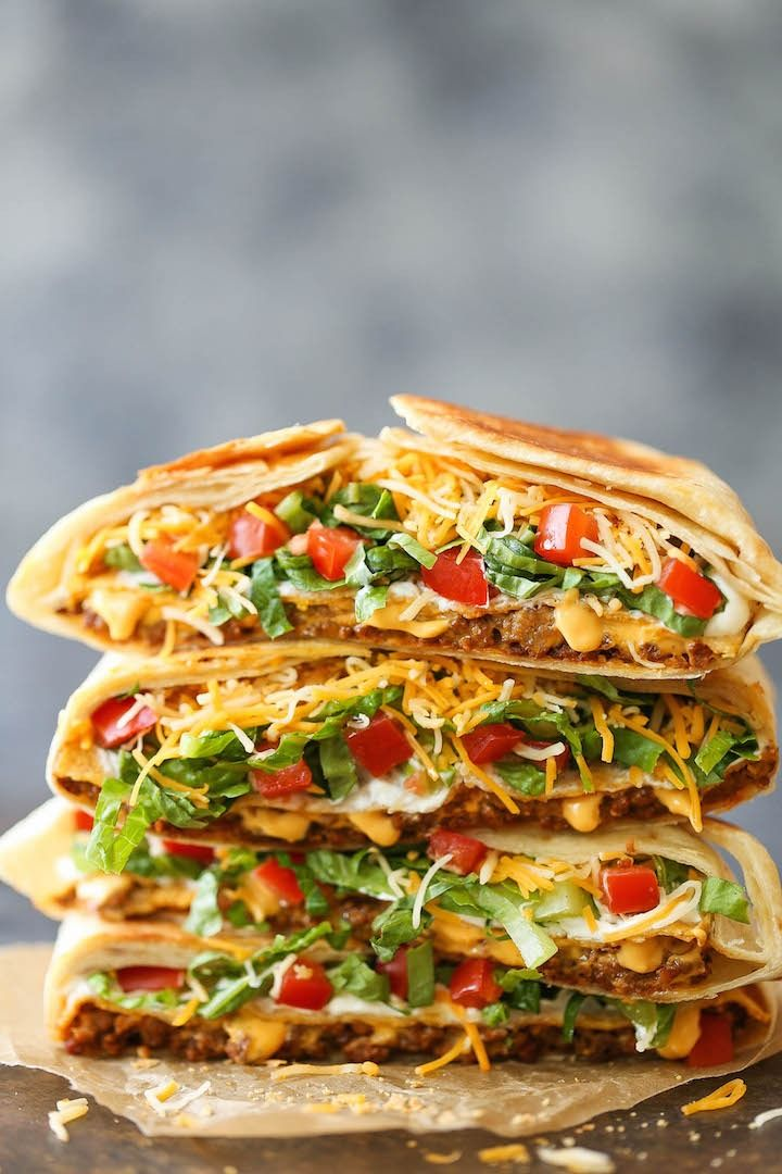 Currently obsessing over this homemade crunchwrap supreme recipe!